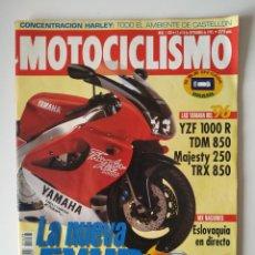 Coches y Motocicletas: REVISTA MOTOCICLISMO Nº 1438 YAMAHA VIRAGO 535 SUZUKI INTRUDER VS 600 GL HONDA SHADOW VT 60 BETA QUA. Lote 200290248