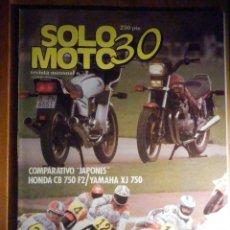 Coches y Motocicletas: SOLO MOTO TREINTA,30 - Nº 3 - ABRIL 1983 - HONDA CB 750 F2, YAMAHA XJ 750, MUNDIAL AFRICA. Lote 200310835