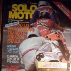 Coches y Motocicletas: SOLO MOTO TREINTA,30 - Nº 5 - JUNIO 1983 - SUZUKI RGB-83, SIDE-CROSS, SUPER JARAMA. Lote 200310873
