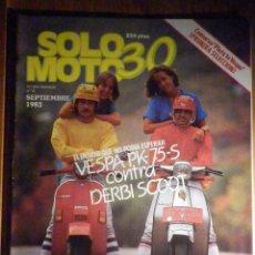 Coches y Motocicletas: SOLO MOTO TREINTA,30 - Nº 8 - SEPTIEMBRE 1983 - VESPA PK-75-S, DERBI SCOOT, HONSA XL-600, ENDURO. Lote 200311015