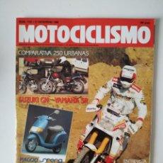 Coches y Motocicletas: REVISTA MOTOCICLISMO Nº 1192 SUZUKI GN 250 YAMAHA SR 250 PIAGGIO ESFERA CAGIVA C 590 MECATECNO METEO. Lote 200357625