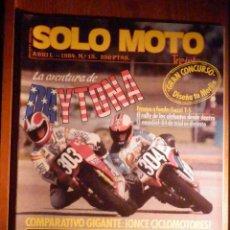 Coches y Motocicletas: SOLO MOTO TREINTA,30 - Nº 15 - ABRIL 1984 - GUZZI T-5, RALLY ELEFANTES, DAYTONA, TRIAL-84. Lote 200403157