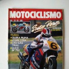 Coches y Motocicletas: REVISTA MOTOCICLISMO Nº 1166 GILERA PIUMA VESPA COSA GUZZI SP 750 GAS GAS TRIAL SITO PONS DOOHAN. Lote 201111553
