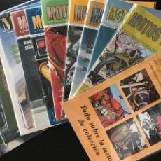 Coches y Motocicletas: MOTOS DE AYER LOTE 21 REVISTAS - DEL Nº 0 AL 20 - SANGLAS DERBI OSSA MONTESA BULTACO GUZZI LAVERDA. Lote 203279682