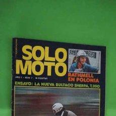 Coches y Motocicletas: REVISTA SOLO MOTO NUMERO 7. Lote 203598750