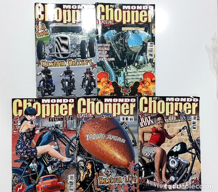 LOTE 5 REVISTAS MONDO CHOPPER NÚMEROS 2,3,4,5 Y OTRA. REVISTA MOTOS,PINUP,KUSTOM (Coches y Motocicletas - Revistas de Motos y Motocicletas)