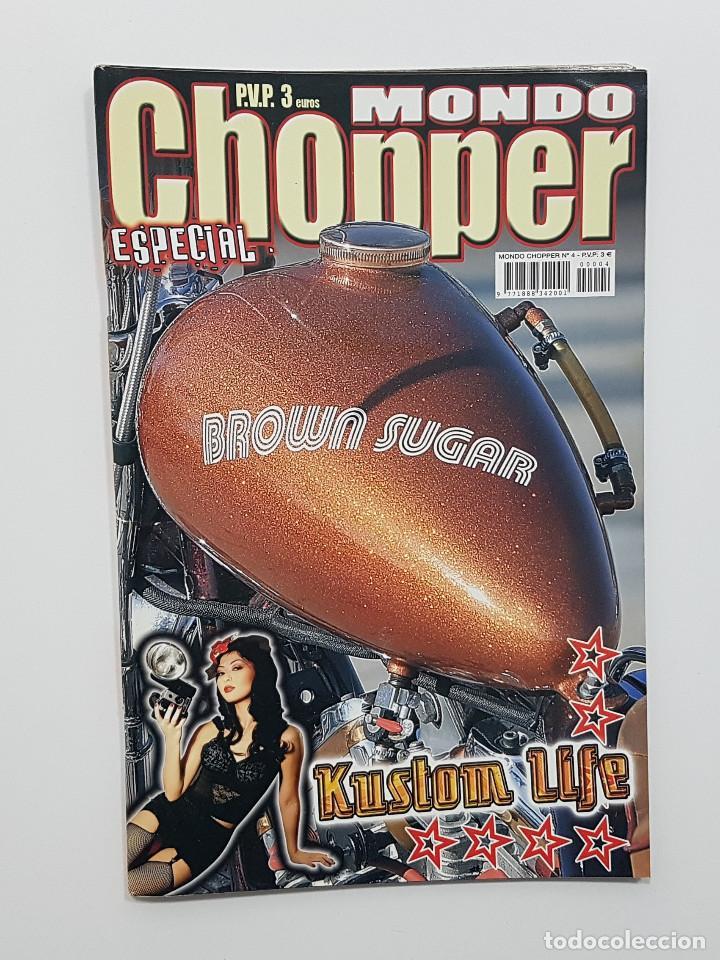 Coches y Motocicletas: LOTE 5 REVISTAS MONDO CHOPPER Números 2,3,4,5 y otra. Revista motos,pinup,kustom - Foto 6 - 204060651