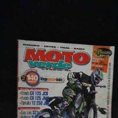Coches y Motocicletas: REVISTA MOTO VERDE NUMERO 260 + CONTIENE EL POSTER DOBLE. Lote 204524942