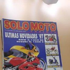 Coches y Motocicletas: REVISTA SOLO MOTO TREINTA. Nº 165 NOVIEMBRE 1996. BMW K-1200 RS, SUZUKI TL 1000 S. Lote 205508875
