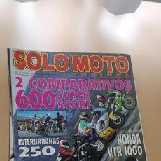 Coches y Motocicletas: REVISTA SOLO MOTO TREINTA. Nº 168 FEBRERO 1997. HONDA VTR 1000. Lote 205509235