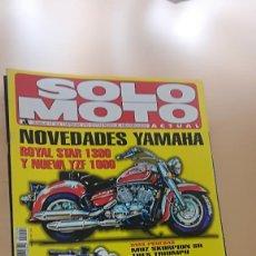 Coches y Motocicletas: REVISTA SOLO MOTO ACTUAL - Nº 1004 - SEP 1995 - ROYAL STAR 1300 GILERA EAGLET 50 APRILIA CLASSIC 75. Lote 205510178