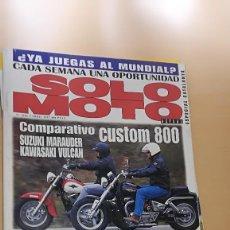 Coches y Motocicletas: REVISTA SOLO MOTO ACTUAL Nº 1086 ABRIL 1997 SUZUKI MARAUDER 800 KAWASAKI VN 800 VULCAN APRILIA SR 50. Lote 205514023