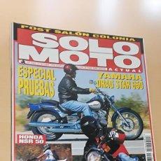 Coches y Motocicletas: REVISTA SOLO MOTO ACTUAL 1062 OCT 1996 HONDA SLR 650. YAMAHA XVS 650 DRAG STAR 650/23. Lote 205577820