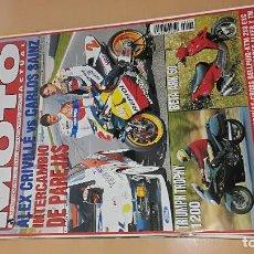 Coches y Motocicletas: REVISTA SOLO MOTO ACTUAL Nº 1066 NOVIEMBRE 1996 ALEX CRIVILLE VS CARLOS SAINZ. Lote 205578095