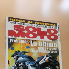 Coches y Motocicletas: REVISTA SOLO MOTO ACTUAL Nº 1085 MARZO 1997. PRUEBA: HONDA X 4 1300. SUKUKI KATANA 50 LC. Lote 205578581