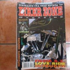 Coches y Motocicletas: BIKER ZONE Nº 42, CUSTOM BIKE & STREETFIGHTER MAGAZINE,. Lote 205666476