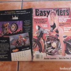 Coches y Motocicletas: EASY RIDERS Nº 199, EDICION AMERICANA 1990, CON POSTER CENTRAL, POSTER DE TAPA RECORTADO. Lote 205672138