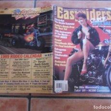 Coches y Motocicletas: EASY RIDERS Nº 195, EDICION AMERICANA 1989 CON POSTER CENTRAL,. Lote 205672277