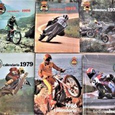 Coches y Motocicletas: LOTE 6 CALENDARIO REAL FEDERACIÓN MOTOCICLISTA ESPAÑOLA AÑOS 1976, 1977, 1978, 1979, 1986 Y 1987. Lote 205712243