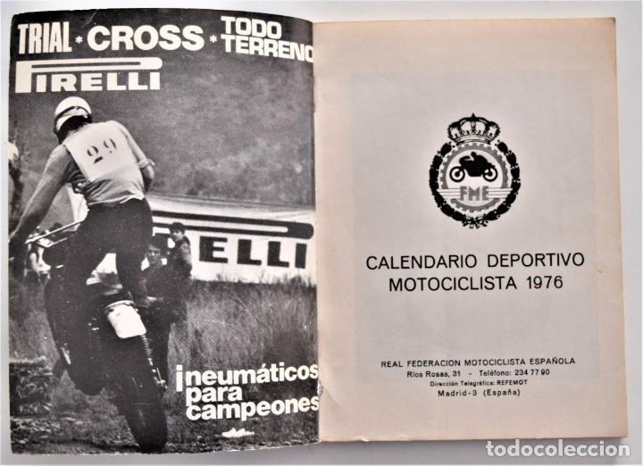 Coches y Motocicletas: LOTE 6 CALENDARIO REAL FEDERACIÓN MOTOCICLISTA ESPAÑOLA AÑOS 1976, 1977, 1978, 1979, 1986 Y 1987 - Foto 5 - 205712243