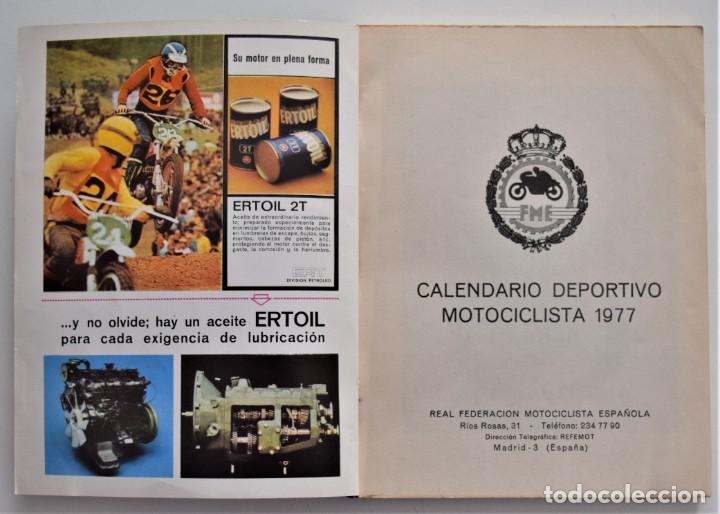 Coches y Motocicletas: LOTE 6 CALENDARIO REAL FEDERACIÓN MOTOCICLISTA ESPAÑOLA AÑOS 1976, 1977, 1978, 1979, 1986 Y 1987 - Foto 12 - 205712243
