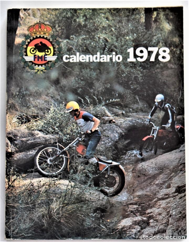 Coches y Motocicletas: LOTE 6 CALENDARIO REAL FEDERACIÓN MOTOCICLISTA ESPAÑOLA AÑOS 1976, 1977, 1978, 1979, 1986 Y 1987 - Foto 18 - 205712243
