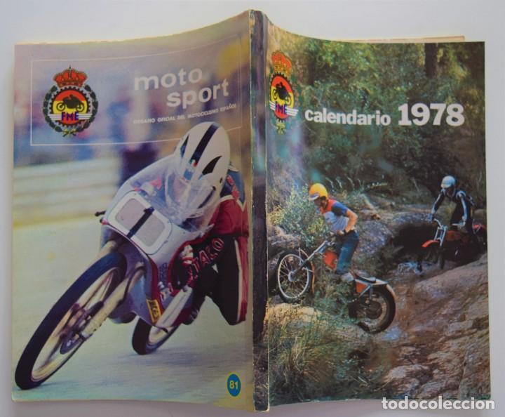 Coches y Motocicletas: LOTE 6 CALENDARIO REAL FEDERACIÓN MOTOCICLISTA ESPAÑOLA AÑOS 1976, 1977, 1978, 1979, 1986 Y 1987 - Foto 19 - 205712243