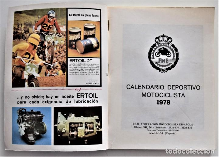 Coches y Motocicletas: LOTE 6 CALENDARIO REAL FEDERACIÓN MOTOCICLISTA ESPAÑOLA AÑOS 1976, 1977, 1978, 1979, 1986 Y 1987 - Foto 20 - 205712243
