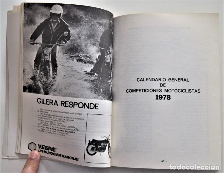 Coches y Motocicletas: LOTE 6 CALENDARIO REAL FEDERACIÓN MOTOCICLISTA ESPAÑOLA AÑOS 1976, 1977, 1978, 1979, 1986 Y 1987 - Foto 25 - 205712243