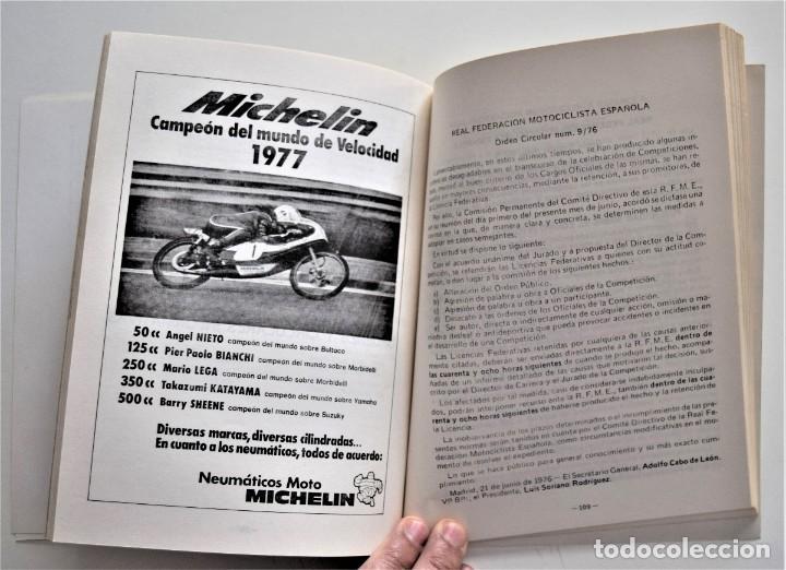 Coches y Motocicletas: LOTE 6 CALENDARIO REAL FEDERACIÓN MOTOCICLISTA ESPAÑOLA AÑOS 1976, 1977, 1978, 1979, 1986 Y 1987 - Foto 26 - 205712243