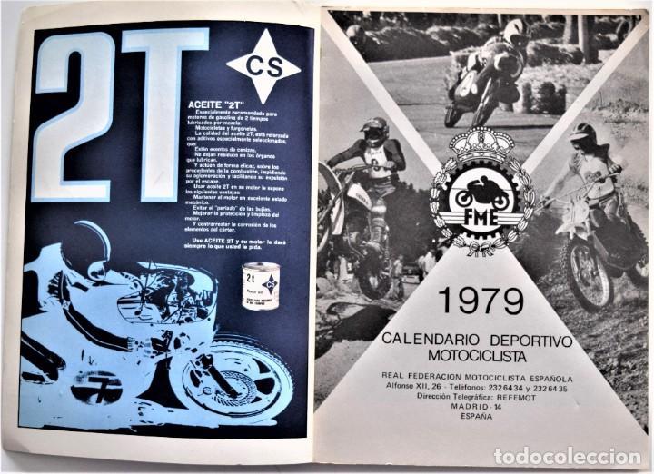 Coches y Motocicletas: LOTE 6 CALENDARIO REAL FEDERACIÓN MOTOCICLISTA ESPAÑOLA AÑOS 1976, 1977, 1978, 1979, 1986 Y 1987 - Foto 29 - 205712243