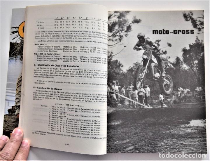 Coches y Motocicletas: LOTE 6 CALENDARIO REAL FEDERACIÓN MOTOCICLISTA ESPAÑOLA AÑOS 1976, 1977, 1978, 1979, 1986 Y 1987 - Foto 40 - 205712243