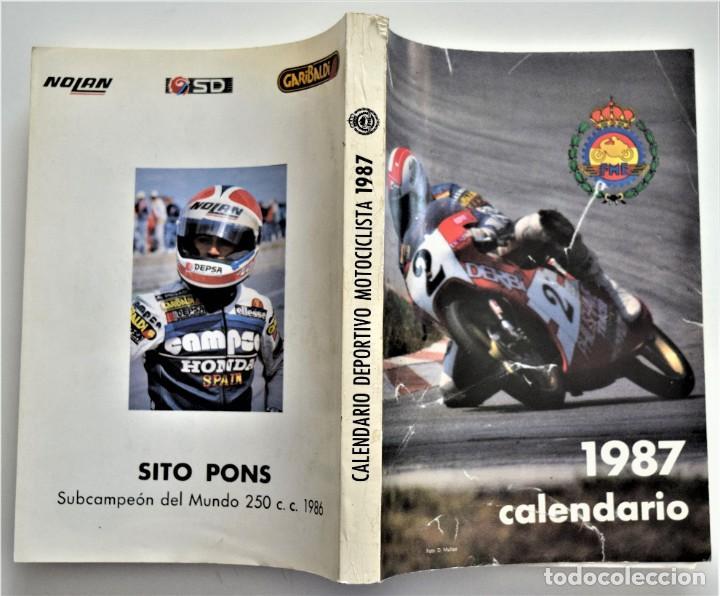 Coches y Motocicletas: LOTE 6 CALENDARIO REAL FEDERACIÓN MOTOCICLISTA ESPAÑOLA AÑOS 1976, 1977, 1978, 1979, 1986 Y 1987 - Foto 46 - 205712243