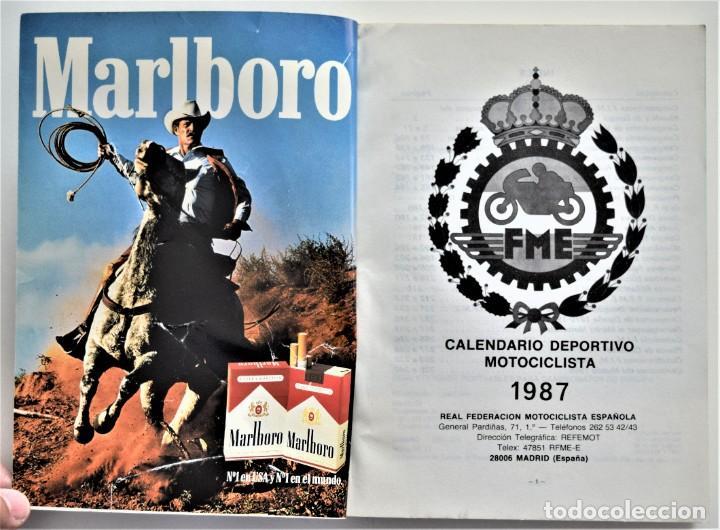 Coches y Motocicletas: LOTE 6 CALENDARIO REAL FEDERACIÓN MOTOCICLISTA ESPAÑOLA AÑOS 1976, 1977, 1978, 1979, 1986 Y 1987 - Foto 47 - 205712243