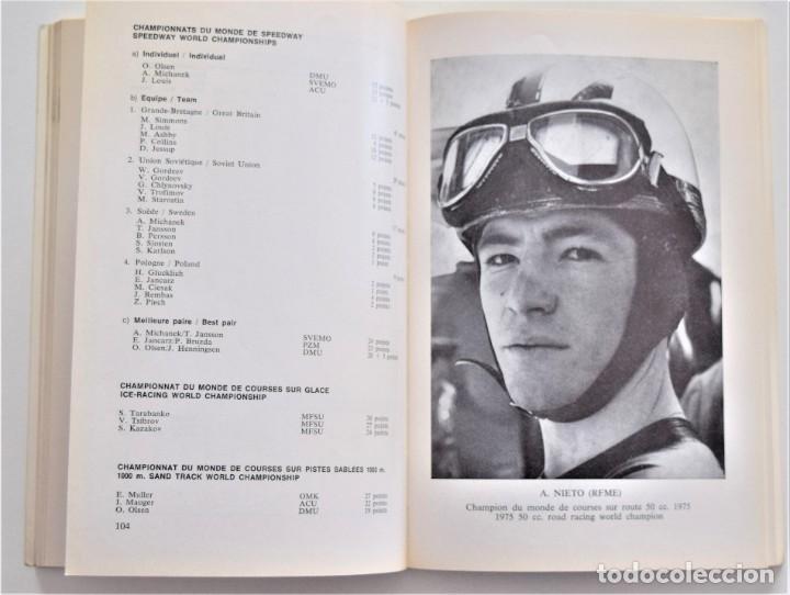 Coches y Motocicletas: ANUARIO DE LA FEDERACIÓN INTERNACIONAL DE MOTOCICLISMO AÑO 1976 - ÁNGEL NIETO - LOS CIRCUITOS - Foto 6 - 205713403