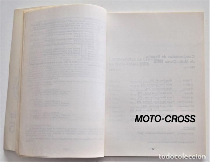 Coches y Motocicletas: CALENDARIO DEPORTIVO MOTOCICLISTA AÑO 1985 - REAL FEDERACIÓN MOTOCICLISTA ESPAÑOLA - Foto 8 - 205713925