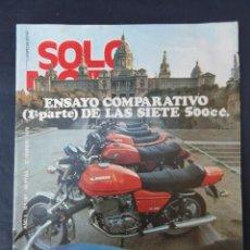 Coches y Motocicletas: REVISTA SOLO MOTO. Nº 181. AÑO 5. 22 FEBRERO 1979.. Lote 206386290