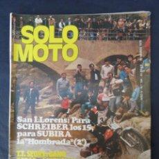 Coches y Motocicletas: REVISTA SOLO MOTO. Nº 184. AÑO 5. 15 MARZO 1979.. Lote 206387566