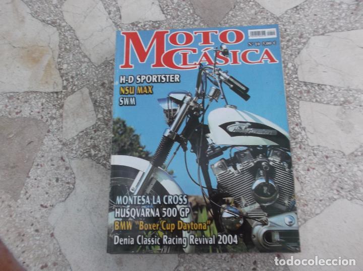 MOTO CLASICA Nº 10, MONTESA LA CROSS, HUSQVARNA 500 GP, BMW BOXER CUP DAYTONA,NSU MAX ,H-D SPORTSTER (Coches y Motocicletas - Revistas de Motos y Motocicletas)