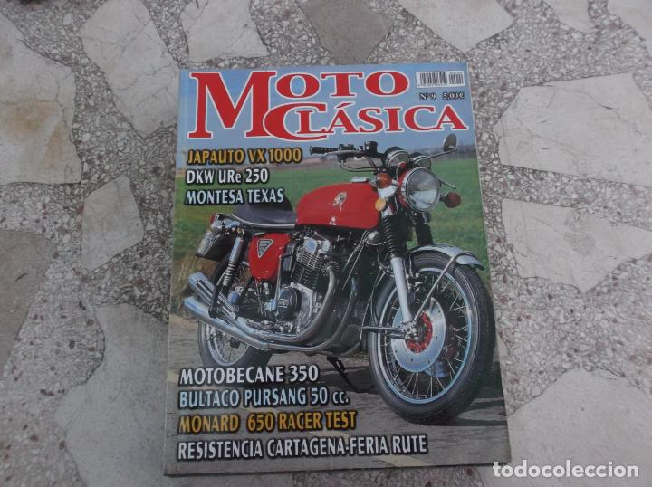 MOTO CLASICA Nº 9, JAPAAUTO VX 1000, DKW URE 250, MONTESA TEXAS, BULTACO PURSANG 50 CC, MONARD 650 R (Coches y Motocicletas - Revistas de Motos y Motocicletas)