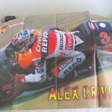Coches y Motocicletas: POSTER DE LA REVISTA MOTOCICLISMO. GP 99. ALEX CRIVILLE - KENNY ROBERTS. Lote 207128503