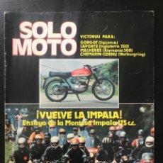 Carros e motociclos: SOLO MOTO Nº 337 - BIMOTA HB2 MONTESA IMPALA 2 175 PEUGEOT 103 CHOPPER DOMINGO ILLA TRIAL R. TORRAS. Lote 207217486