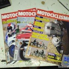 Coches y Motocicletas: LOTE DE 3 REVISTAS MOTOCICLISMO AÑO 1992 MES DE MARZO. Lote 207274047