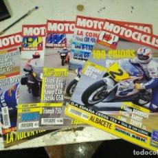 Coches y Motocicletas: LOTE DE 5 REVISTAS MOTOCICLISMO AÑO 1992 MES DE ABRIL. Lote 207274378