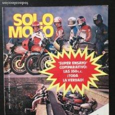 Coches y Motocicletas: SOLO MOTO Nº 272 - MARCO LUCCHINELLI MONTESA CRONO 350 GUZZI V35 IMOLA BULTACO FRONTERA 370 PAXAU. Lote 217830312