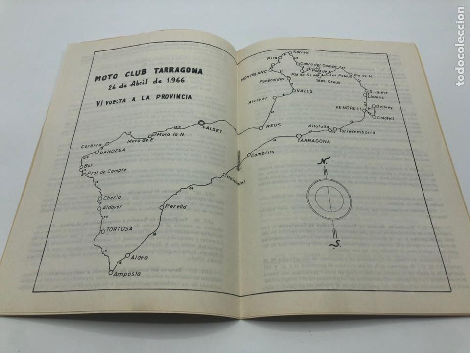 Coches y Motocicletas: PRUEBA RALLYE VI VUELTA A LA PROVINCIA 1966 MOTO CLUB TARRAGONA REGLAMENTO - Foto 2 - 210034701