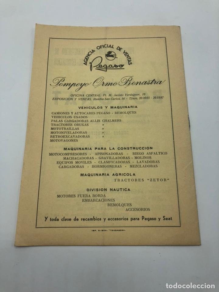 Coches y Motocicletas: PRUEBA RALLYE VI VUELTA A LA PROVINCIA 1966 MOTO CLUB TARRAGONA REGLAMENTO - Foto 3 - 210034701