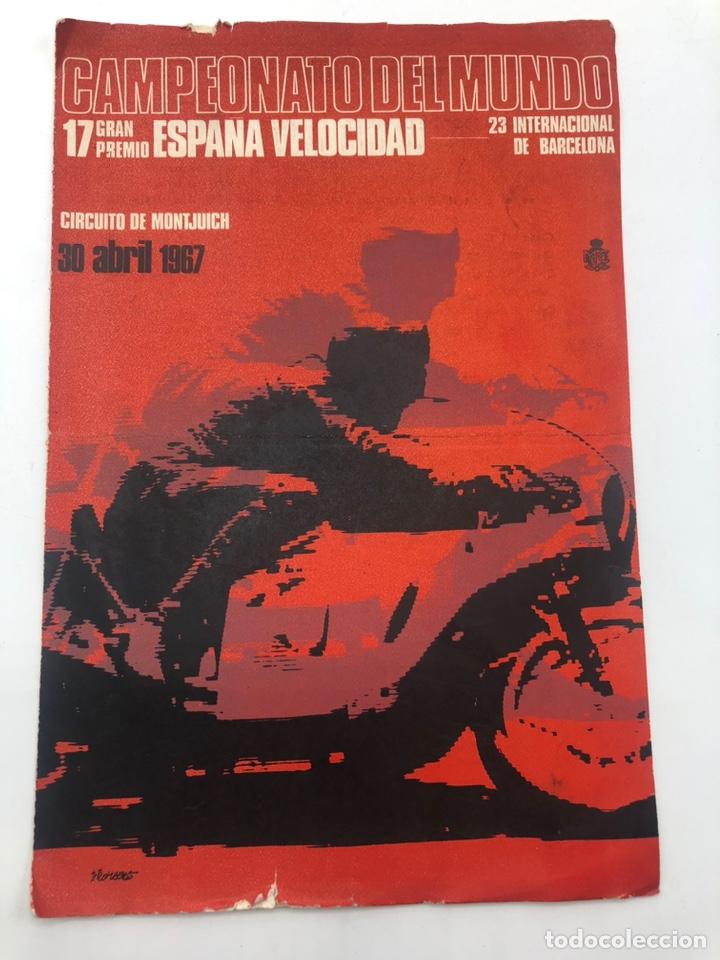 XVII GRAN PREMIO DE ESPAÑA CIRCUITO ESPAÑA CAMPEONATO DEL MUNDO 1967 HORARIOS PRECIOS (Coches y Motocicletas - Revistas de Motos y Motocicletas)