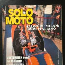Coches y Motocicletas: SOLO MOTO Nº 117 - SALON MILAN BULTO BULTACO SWM PUIG BULTACO POSTER RICART DERBI 2002 TOKYO SHOW. Lote 211417421