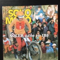Coches y Motocicletas: SOLO MOTO Nº 112 - CUESTA RABASSADA MOTOCROSS TORELLO TRIAL IBI POSTER DEL POZO CHIQUI SALON PARIS. Lote 211418769